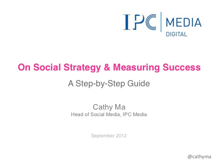On Social Strategy & Measuring Success          A Step-by-Step Guide                   Cathy Ma           Head of Social M...