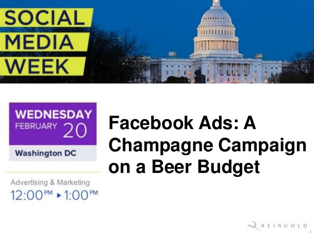 Facebook Ads: AChampagne Campaignon a Beer Budget                     1