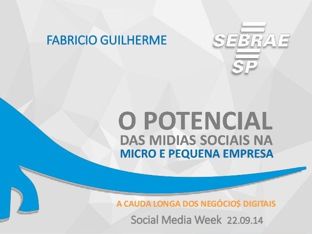 A CAUDA LONGA DOS NEGÓCIO$ DIGITAIS  FABRICIO GUILHERME  Social Media Week 22.09.14