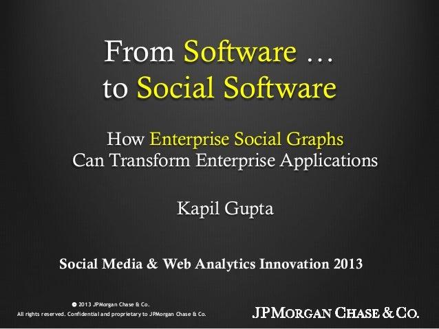 From Software …to Social SoftwareHow Enterprise Social GraphsCan Transform Enterprise ApplicationsKapil GuptaSocial Media ...
