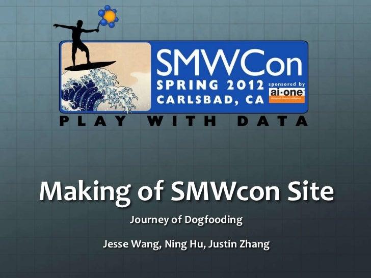 Making of SMWcon Site         Journey of Dogfooding    Jesse Wang, Ning Hu, Justin Zhang