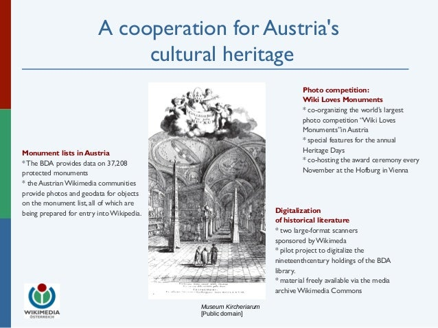 A cooperation for Austria's  cultural heritage  Museum Kircheriarum  [Public domain]  Photo competition:  Wiki Loves Monum...
