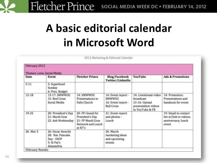 Organize Your Social Media Efforts with Editorial Calendars: A Social…