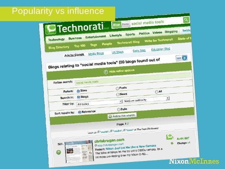 Popularity vs influence