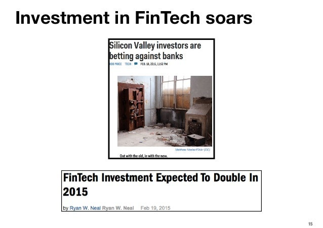 15 Investment in FinTech soars