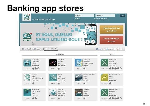 36 Banking app stores
