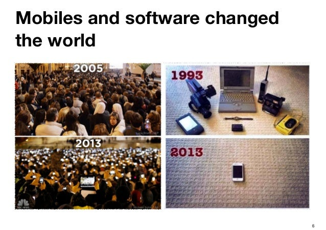 6 Mobiles and software changed the world