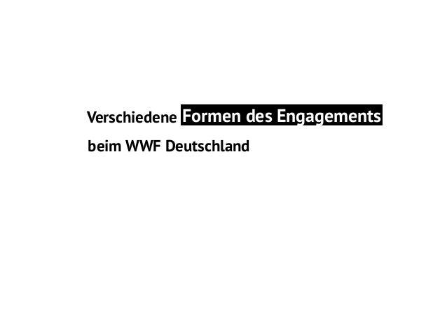 Verschiedene Formen des Engagements beim WWF Deutschland