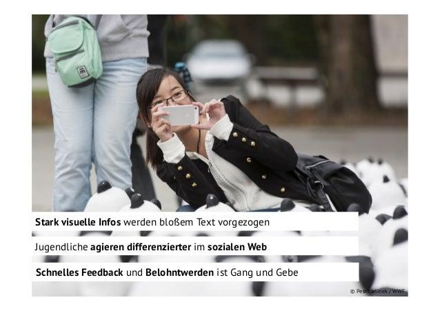 Stark visuelle Infos werden bloßem Text vorgezogen Jugendliche agieren differenzierter im sozialen Web Schnelles Feedback ...