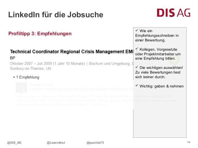 Social Media Week Hamburg 2014 - DIS AG präsentiert: LinkedIn für die…