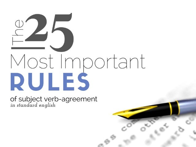 The 25 Most Important Rules Of Subject Verb Agreement For Scientists