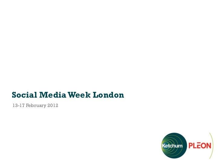 Social Media Week London13-17 February 2012