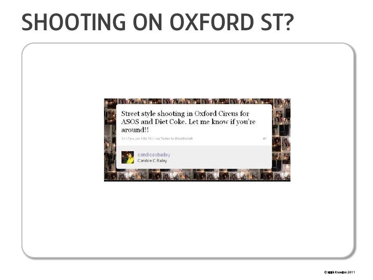 Shooting on oxford st?<br />© Hill & Knowlton 2011<br />