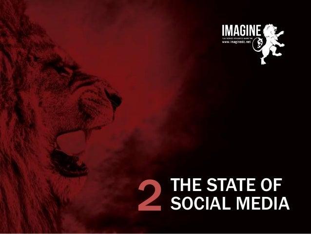 www.imaginedc.net info@imaginedc.net @wefightugly THE STATE OF SOCIAL MEDIA2