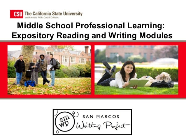 Middle School Professional Learning: Expository Reading and Writing Modules