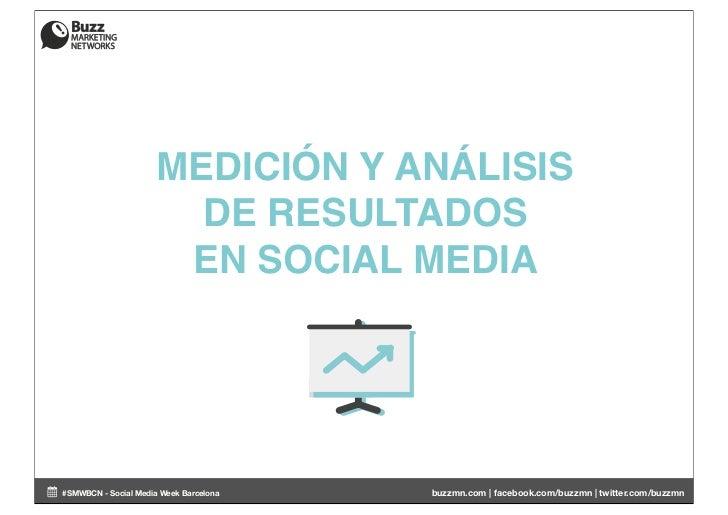 MEDICIÓN Y ANÁLISIS                        DE RESULTADOS                       EN SOCIAL MEDIA#SMWBCN - Social Media Week ...
