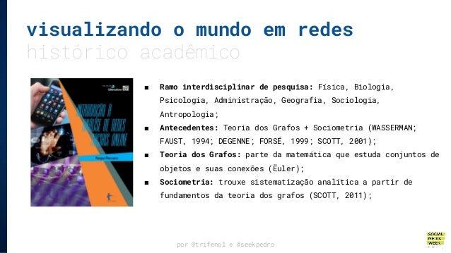 por @trifenol e @seekpedro visualizando o mundo em redes histórico acadêmico ■ Ramo interdisciplinar de pesquisa: Física, ...