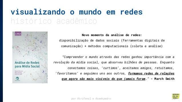 por @trifenol e @seekpedro visualizando o mundo em redes histórico acadêmico Novo momento da análise de redes: disponibili...