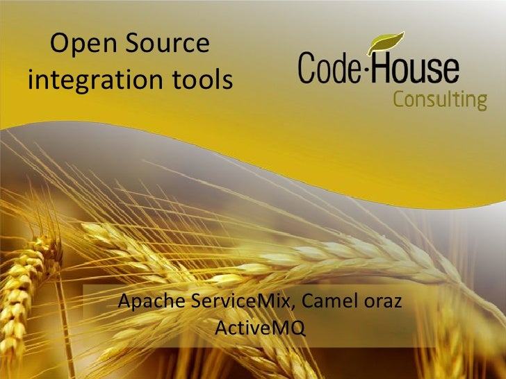 Open Source integration tools Apache ServiceMix, Camel oraz ActiveMQ