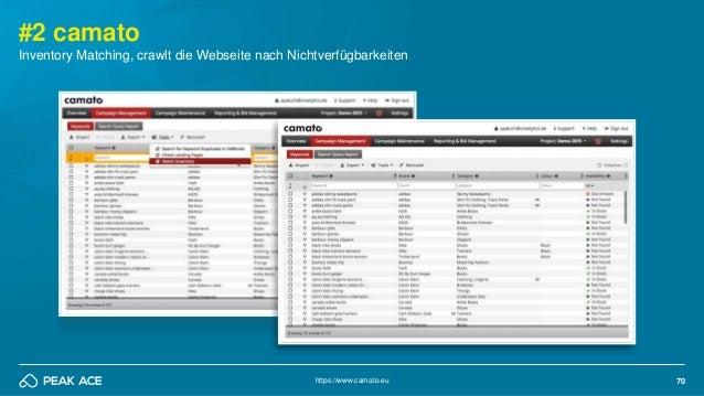 70 #2 camato Inventory Matching, crawlt die Webseite nach Nichtverfügbarkeiten https://www.camato.eu