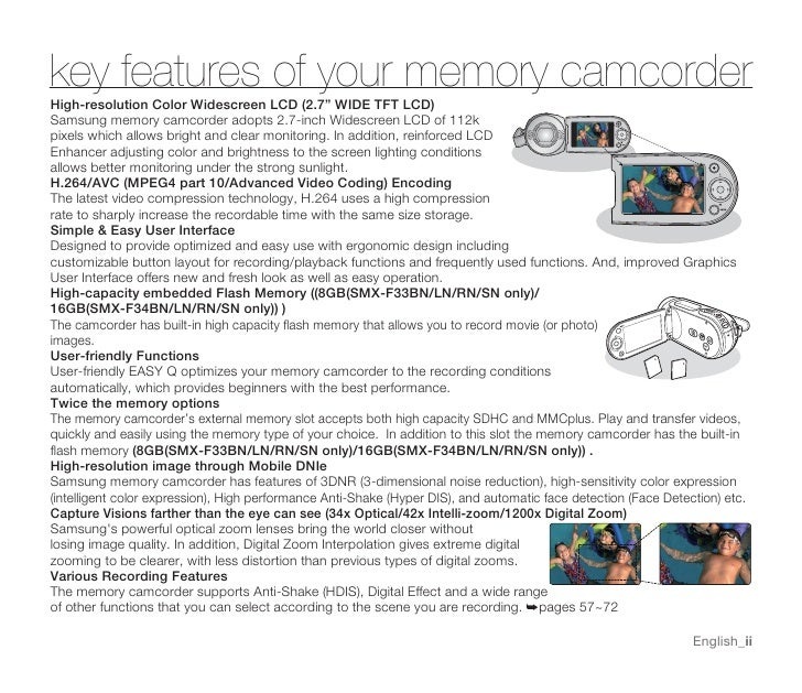 samsung camcorder smx f30n user manual rh slideshare net samsung memory camcorder user manual samsung memory camcorder user manual
