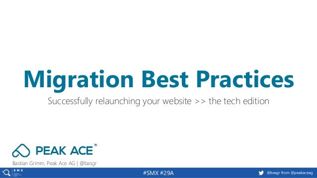 @basgr from @peakaceag#SMX #29A Bastian Grimm, Peak Ace AG | @basgr Successfully relaunching your website >> the tech edit...