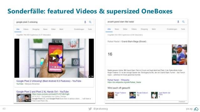 40 pa.ag@peakaceag Sonderfälle: featured Videos & supersized OneBoxes