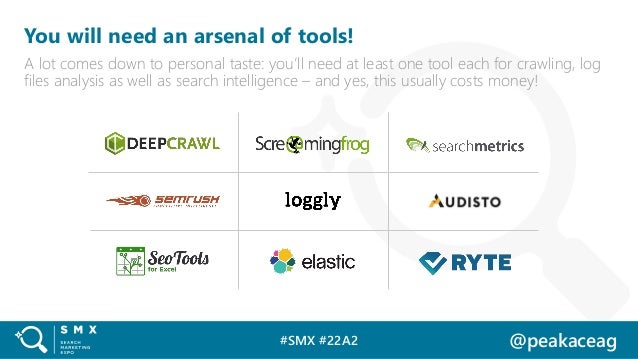 #SMX #22A2 @peakaceag You will need an arsenal of tools! A lot comes down to personal taste: you'll need at least one tool...