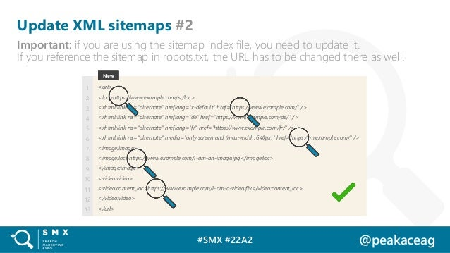 #SMX #22A2 @peakaceag Update XML sitemaps #2 Important: if you are using the sitemap index file, you need to update it. If...