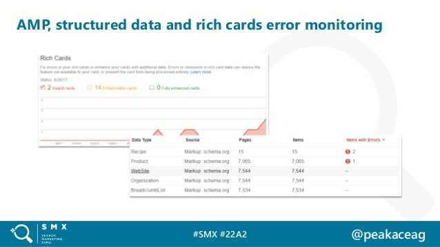 #SMX #22A2 @peakaceag AMP, structured data and rich cards error monitoring