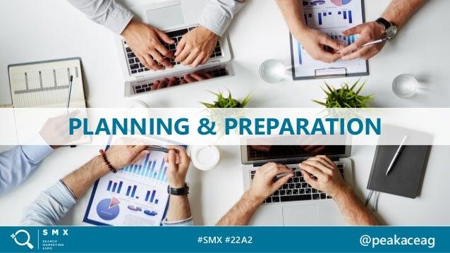 #SMX #22A2 @peakaceag PLANNING & PREPARATION