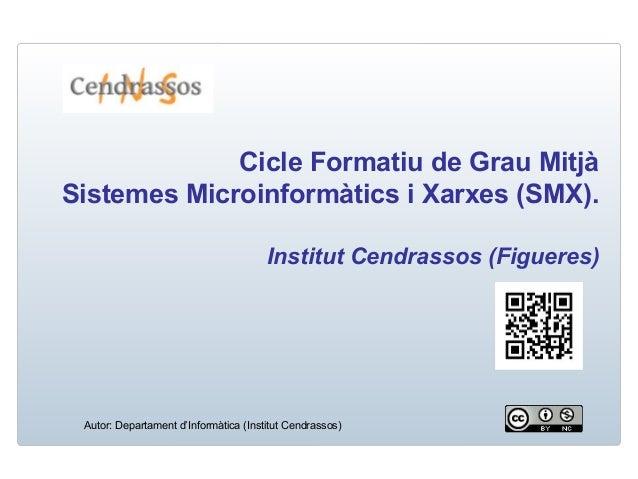 Cicle Formatiu de Grau Mitjà Sistemes Microinformàtics i Xarxes (SMX). Institut Cendrassos (Figueres) Autor: Departament d...