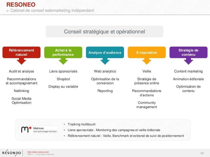 Seo et optimisation de la conversion resoneo smx - Cabinet de conseil en strategie marketing ...
