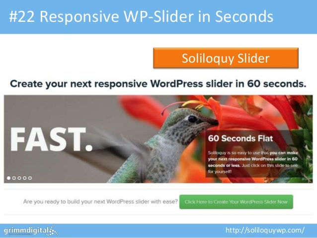 #22 Responsive WP-Slider in Seconds                      Soliloquy Slider                             http://soliloquywp.c...