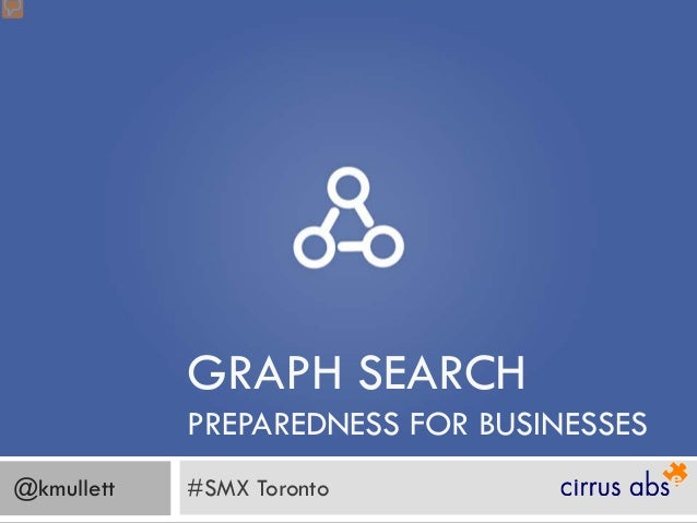 GRAPH SEARCH            PREPAREDNESS FOR BUSINESSES@kmullett   #SMX Toronto