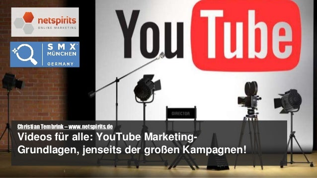 1 #netspirits | @Chris_Tembrink | youtube.com/netspirits Christian Tembrink – www.netspirits.de Videos für alle: YouTube M...
