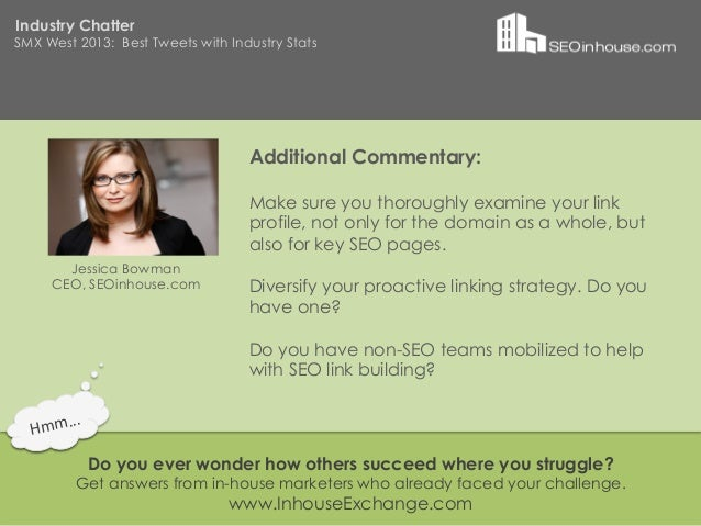 Industry ChatterSMX West 2013: Best Tweets with Industry Stats                                   Additional Commentary:   ...