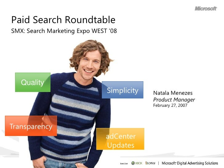 """Paid Search Roundtable SMX: Search Marketing Expo WEST """"08        Quality                                Simplicity   Nata..."""
