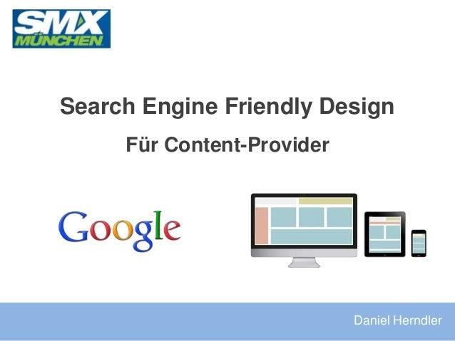 Search Engine Friendly Design Für Content-Provider Daniel Herndler