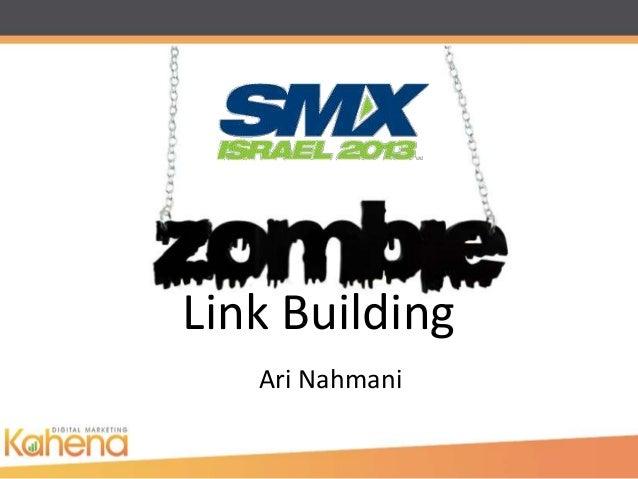 Link Building   Ari Nahmani