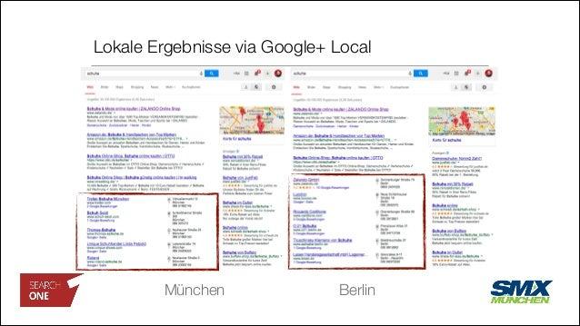 Lokale Ergebnisse via Google+ Local München Berlin