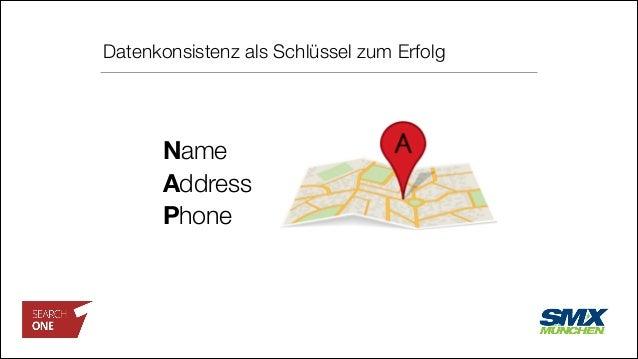 Datenkonsistenz als Schlüssel zum Erfolg Name Address Phone