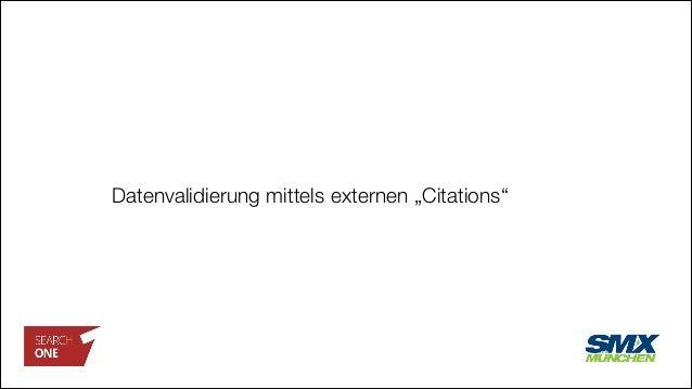 "Datenvalidierung mittels externen ""Citations"""