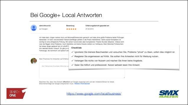 Bei Google+ Local Antworten https://www.google.com/local/business/