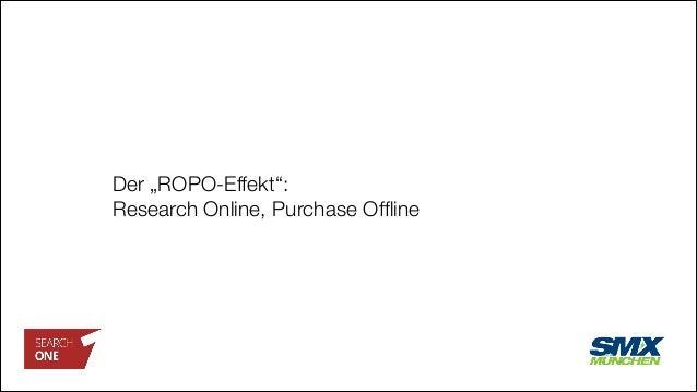 """Der """"ROPO-Effekt"""": Research Online, Purchase Offline"""