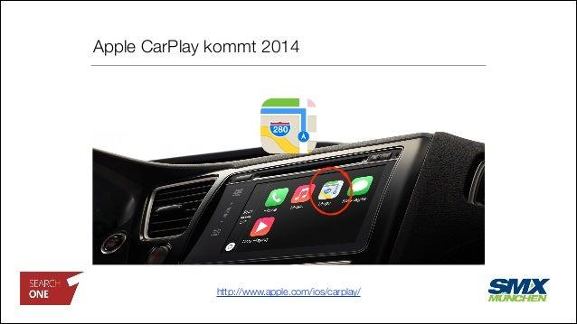 Apple CarPlay kommt 2014 http://www.apple.com/ios/carplay/
