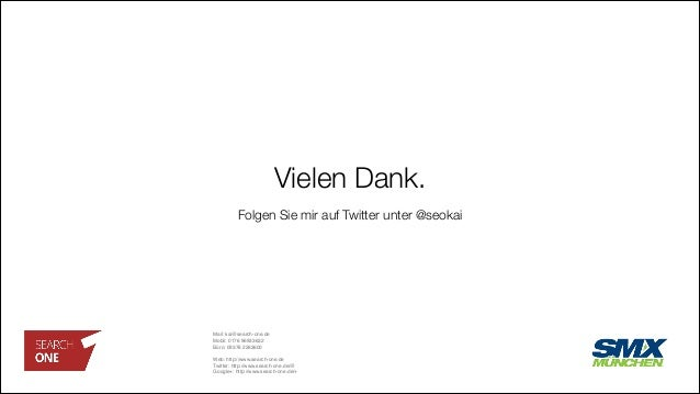 "Vielen Dank. Mail:kai@search-one.de"" Mobil: 0176 96933632"" Büro:09376 2263600"" "" Web:http://www.search-one.de"" Twitter:..."