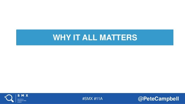#SMX #11A @PeteCampbell WHY IT ALL MATTERS