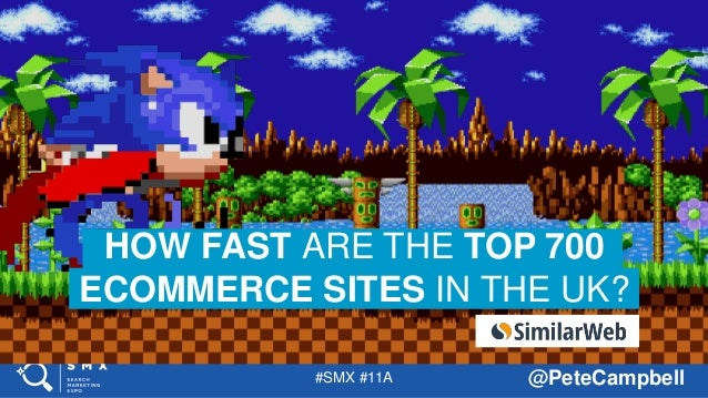 #SMX #11A @PeteCampbell HOW FAST ARE THE TOP 700 ECOMMERCE SITES IN THE UK?