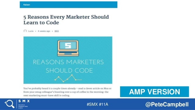 #SMX #11A @PeteCampbell AMP VERSION